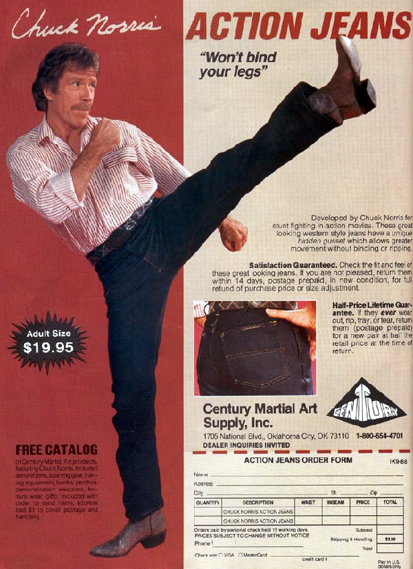Chuck norris i m not doing a roundhouse kick i just can t put my leg