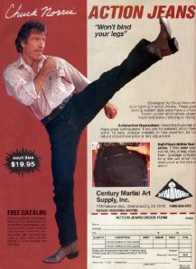Chuck Norris: I'm Not Doing A Roundhouse Kick; I Just Can't Put My Leg Down Since Sasha Gave Me That Damn Wedgie!