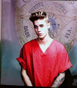 Justin Bieber Posing For An Arrest Selfie