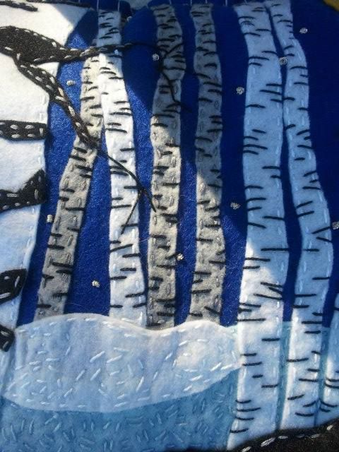Close Up Of Birch Trees
