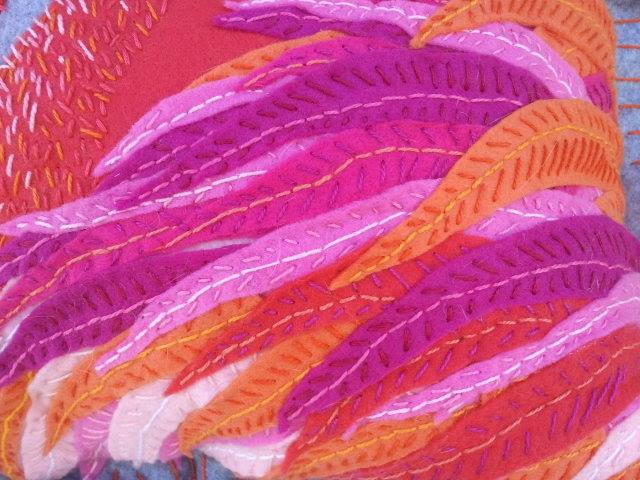 Every Feather Is Embroidered By Hand