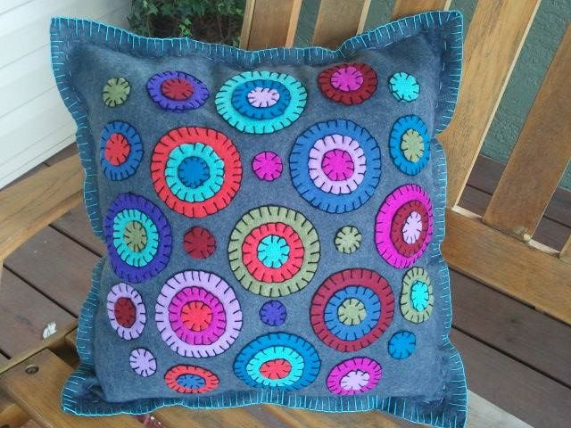 Muted Circle Pillow