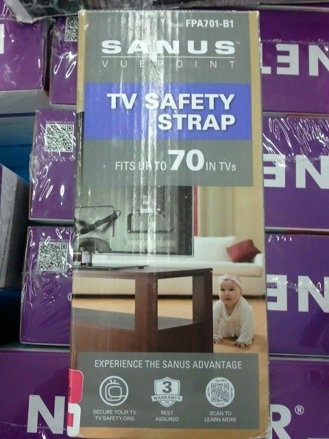 TV Safety Strap - This Is A Real Thing For A Reason: No Matter What They Say, Your Tots Don't Really Want To Be Flat Stanley.